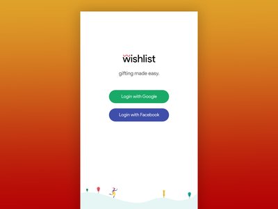 Wishlist - concept minimal concept app logo design ui flat android