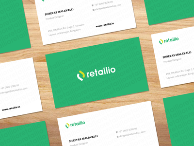 Business cards visiting cards business cards logo flat green branding retailio