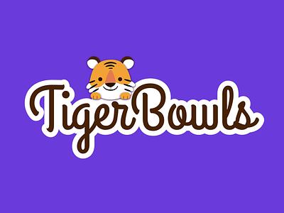 Tigerbowls purple branding idea restaurant bowls tiger
