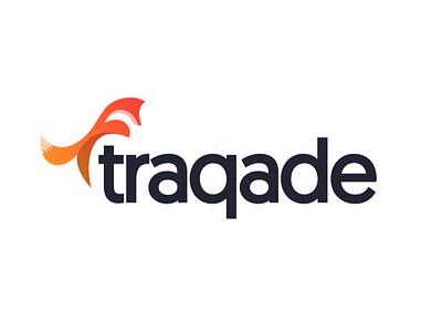 Traqade redesign new minimal fox orange crm modern icon logo traqade