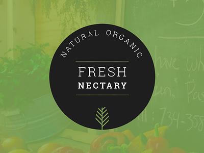 Pressed Juice Branding nectary fresh natural organic logo branding juice pressed