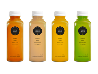 Pressed Juice Bottles nectary fresh natural organic logo bottles branding juice pressed