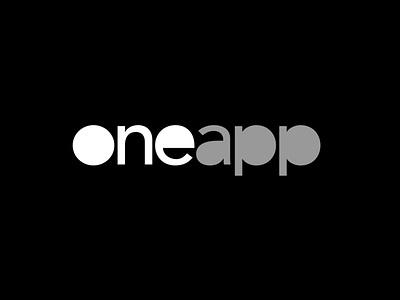 Oneapp logo icon oneapp ux ui flat illustration design branding logo app android