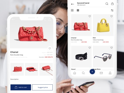 High-Fashion Marketplace online store ecommerce app mobile ui app design application high fashion fashion app bright app design ux ui