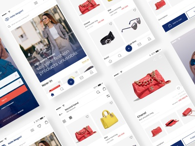 High-Fashion Marketplace application app design high fashion ecommerce app online shop fashion app store app bright app design ux ui
