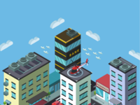 Isometric City Screen Saver P1