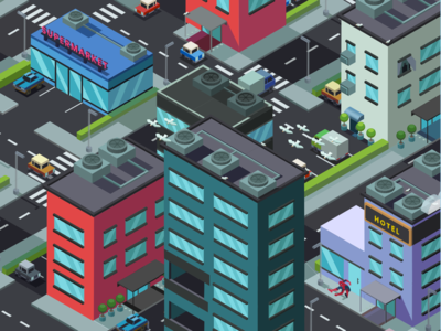 Isometric City Screen Saver P2