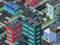 Isometric City Screen Saver P2