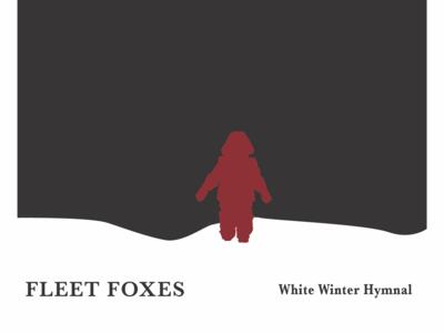 Nriggs Ffwhitewinterhymnal typography design album cover illustration