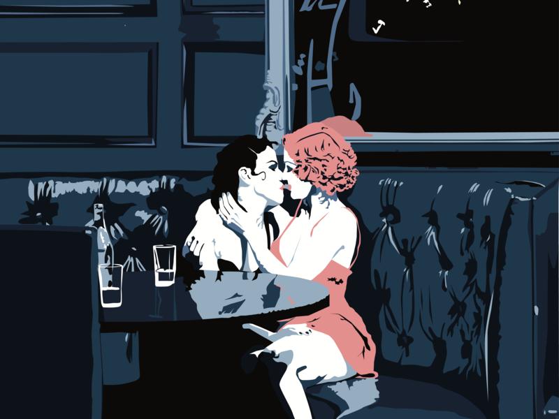 Back of the Speakeasy vector lgbtqia prohibition poster art illustration