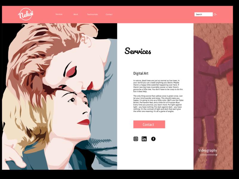 Web Layout design gallery web  design website user experience design