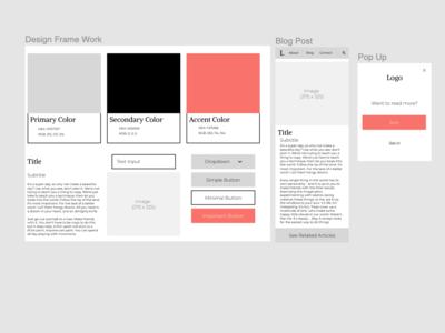 Flexible Blog Post minimal flexible blog design ui design ux design mobile