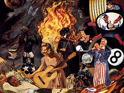 Green Day - Insomniac design art san francisco music art band art punkrock punk alternative tentacles angular collage art collage winston smith logo logo design dead kennedys insomniac green day