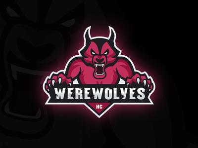 New Logo/Mascot for a virtual hockey team called Werewolves HC