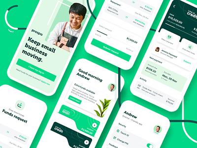 Prospa - Mobile app application mobile designer app designer mobile app design mobile app credit card card payment bank user interface ux mobile ui mobile interface mobile ios app ios app design app
