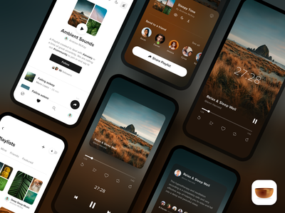 Insight Timer - Playlists app designer mobile designer user interface app store app store screenshots meditation app meditation insight timer app ui app details page playlists audio player player music player mobile ui mobile design mobile ios app ios