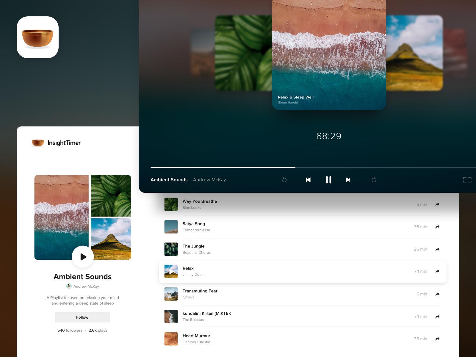 Insight timer   playlists web 2x