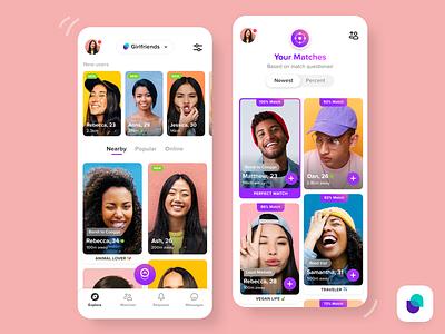 Friendly App - Homepage feed app designers australia app designer ios app design social social app friends friendly mobile ui mobile app mobile app design ios apps ios app ios