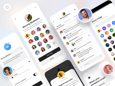 Insight Circles meditation insight timer ui designer uidesign ui ios app design app design app ios create enterprise team circle group chat groups group