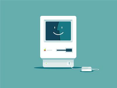 Macintosh illustration illustration vector macintosh mac computer mouse