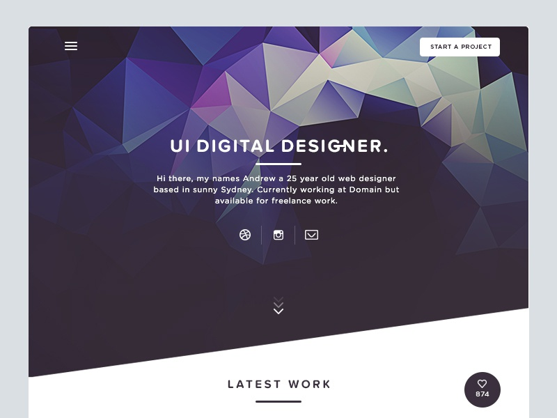 Upcoming - Personal Website website web design homepage landing page interface ui clean dark polygon personal freelance