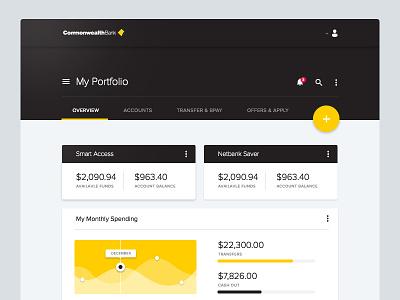 Commbank - Material Design material design website commbank commonwealth bank web design flat graph