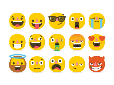 Emoji set - Atlassian atlassian emotions faces illustrations emoji set emoji