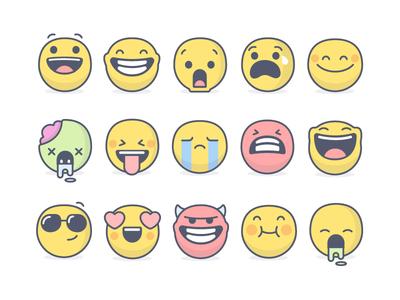 Emoji set (Light version) - Atlassian atlassian emotions faces illustrations emoji set emoji