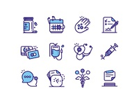 Medical icons large