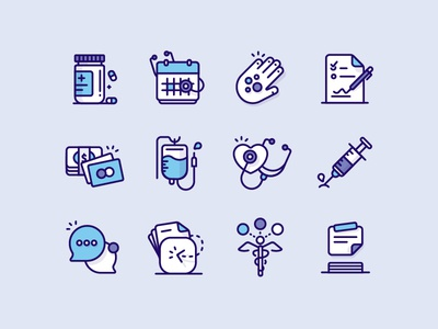 Medical Icons icon icon set document medical appointment chat payment agreement billing conditions needle