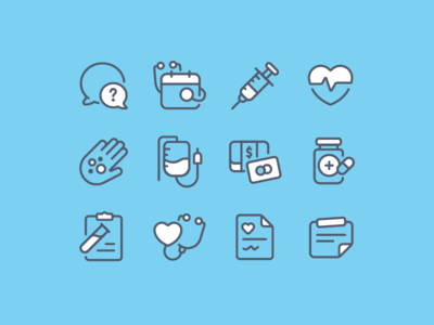 Medical - Icon set by Andrew McKay - Dribbble