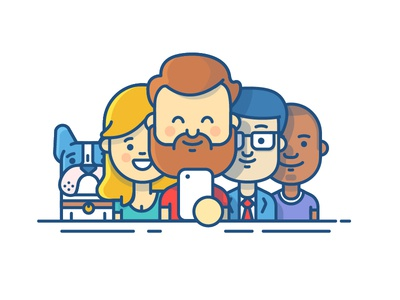 Collaboration - Illustration confluence jira family frenchy ios collaboration team illustration