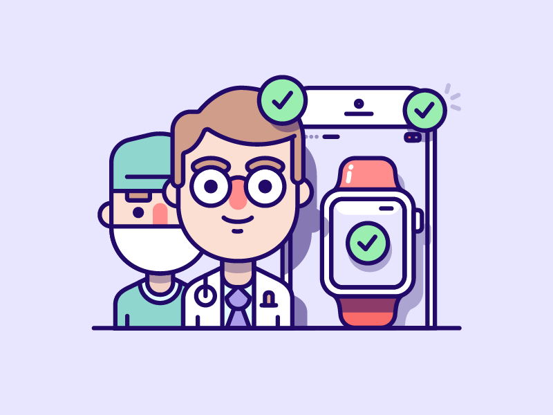 Medical Illustration illustration character iphone ios iwatch surgeon doctor medical