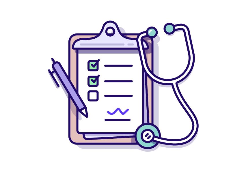 Medical - Checklist Illustration paper board purple checklist illustration medical