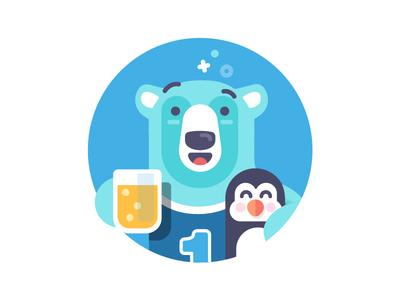 Polar Buddies - illustration