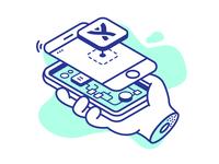 Mobile shirt illustration - Atlassian