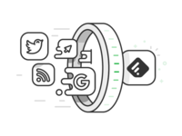 Feedly - Portal illustration