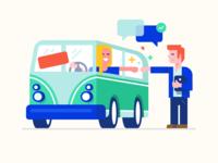 Car loan - illustration