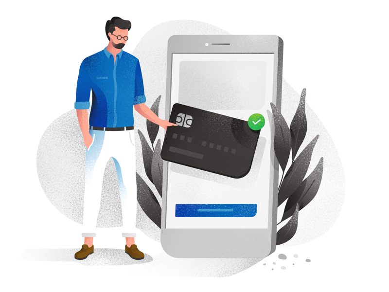 No Cards Available - Corporate illustration illustration corporate character bank card credit iphone phone plant hipster no cards