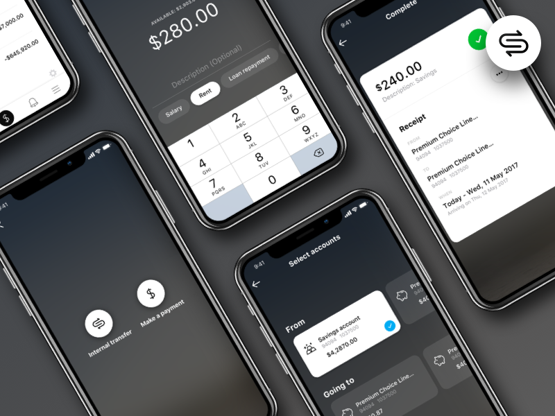 Payment flow enhancements macquarie bank mobile ios app transfer money bank ux flow payment