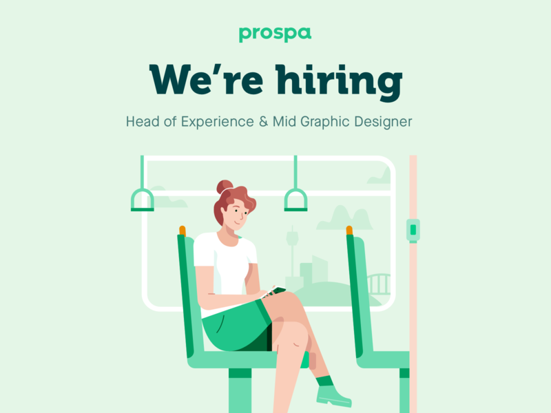 We're Hiring - Sydney based designers prospa jobs design jobs hiring were hiring