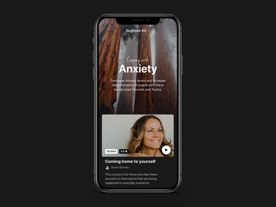 Beginner kit Interaction - Meditation app gif mobile animation ios app designer insight timer meditation app ios app design ios app app design app
