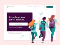 TeacherFunder - Schools landing page