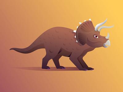 triceratops character nature illustration jurasic jurassicpark dinosaur triceratops