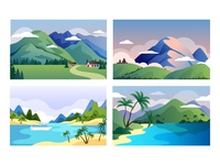 Nature illustration for landing page