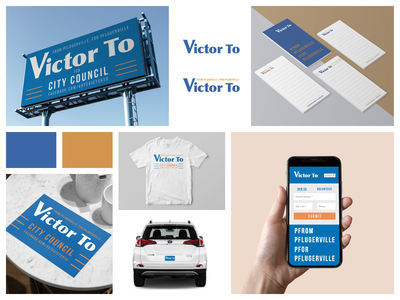 Victor To Campaign Branding color palette blue logo design logodesign logotype logo campaign design campaigns branding and identity branding agency branding design brand identity brand design branding brand