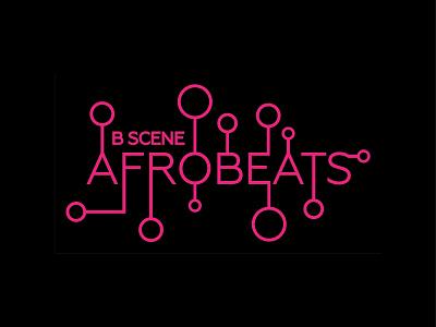 Afrobeats Logo typography design logo