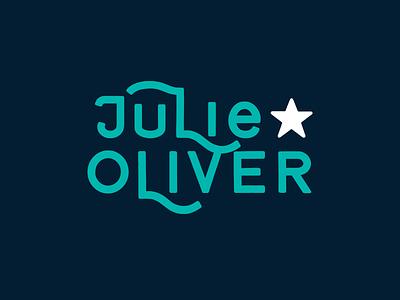 Julie Oliver Logotype Concept icon badge logo badge design hand lettering vector logo typography branding design