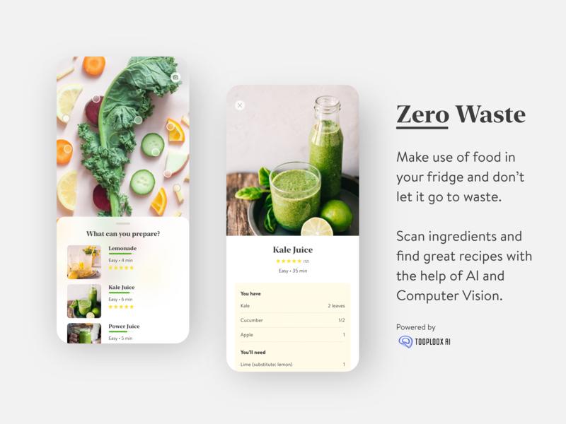 Zero Waste ios7 product zero waste recipe tooploox artificial intelligence computer vision ai app food ios