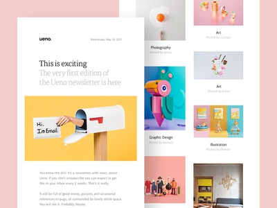 Ueno newsletter by adrien thomas dribbble ueno newsletter thecheapjerseys Choice Image